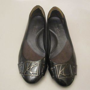 Kenneth Cole Shoes - Kenneth Cole Black Leather Flats/Loafers Size 8.5M